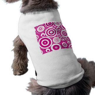 Retro rosor cirklar formgivare långärmad hundtöja