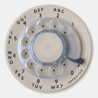 Retro roterande mobil visartavla runt klistermärke