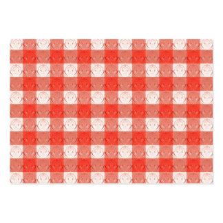 Retro rött kvadrerar design. Präglat mönster Visitkort