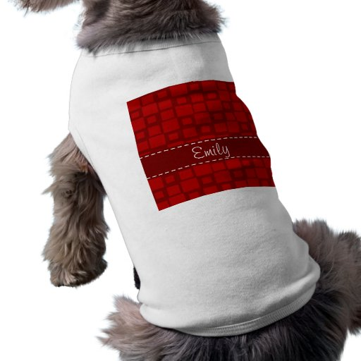 Retro rött kvadrerar mönster tröja för hundar