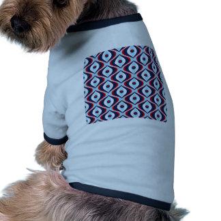 Retro rött, vit & blått hund t-shirts