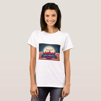 Retro Salt Lake City horisont T-shirts
