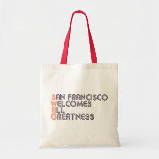 Retro San Francisco bylte Budget Tygkasse