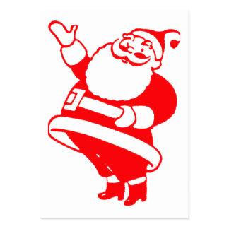 Retro Santa gåvamärkre Set Av Breda Visitkort