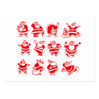 Retro Santas gåvamärkre Visit Kort