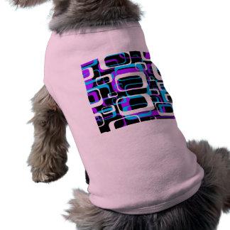 Retro Shapemönster T-shirt För Hundar