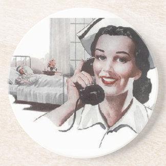 Retro sjukhussjuksköterska för vintage underlägg