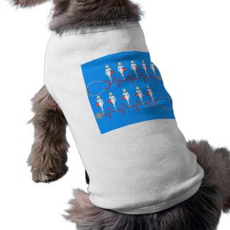 Retro sjuksköterskahusdjurskjorta långärmad hundtöja