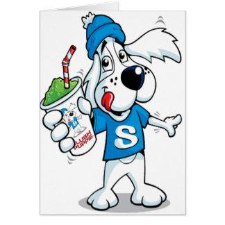 Retro Slushhund Hälsningskort