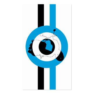 Retro sparkcykelSilhouettebokmärke Set Av Standard Visitkort