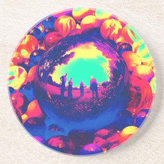Retro Sphere av reflexioner Underlägg Sandsten