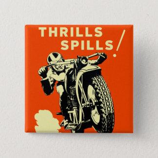 Retro spill för spänningar för vintagemotorcykeltä standard kanpp fyrkantig 5.1 cm