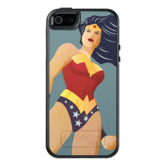 Retro stadsSunburst för undra kvinna OtterBox iPhone 5/5s/SE Skal