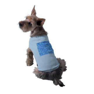 Retro stänkblått långärmad hundtöja