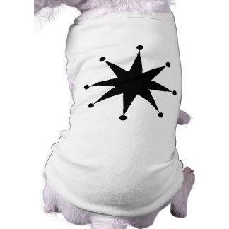 Retro Starburst Hund Tshirt