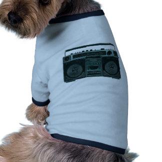 retro stereo hund tee shirt