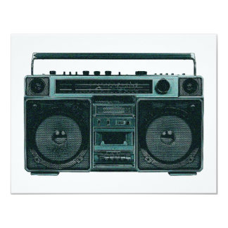 retro stereo- inbjudan