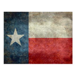 Retro stil för Texas statlig flaggavintage Vykort