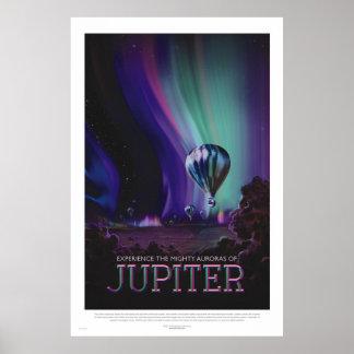 Retro stilutrymme reser affischen - Jupiter Poster