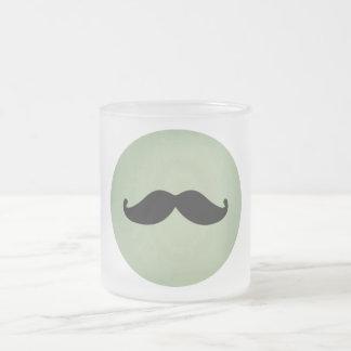 Retro svart mustasch för vintage på sjaskig Mintgr Frostad Glas Mugg