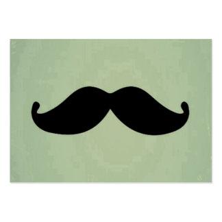 Retro svart mustasch för vintage på sjaskig Mintgr Visitkort Mall