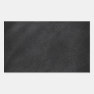 Retro svart svart tavlastruktur rektangulärt klistermärke