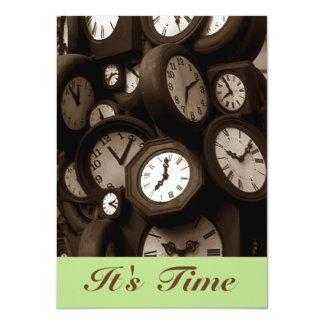 Retro tar tid på det är Time Gr8 11,4 X 15,9 Cm Inbjudningskort