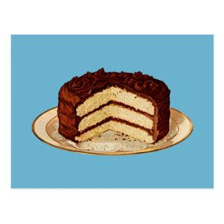 Retro tårta vykort