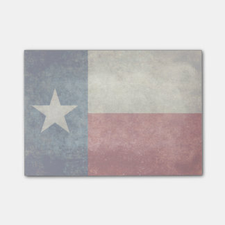 Retro Texas statlig flaggavintage postar dess Post-it Lappar