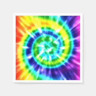 Retro Tiefärg färgrika Boho för Hippy fred Papper Servett