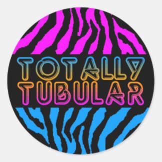 Retro totalt Tubular randar för Corey tiger80-tal Rund Klistermärke