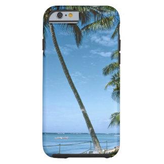 Retro tropiska soliga handflatan, tough iPhone 6 case