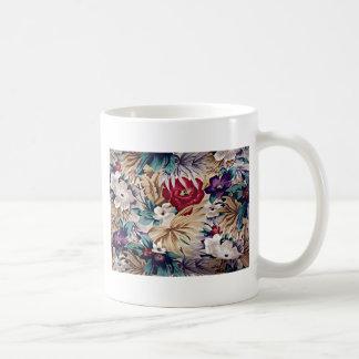 Retro tropiskt blommamönster kaffemugg