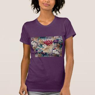 Retro tropiskt blommamönster tröja