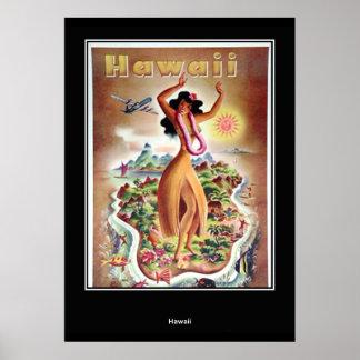 Retro tryck för Hawaii vintage Poster