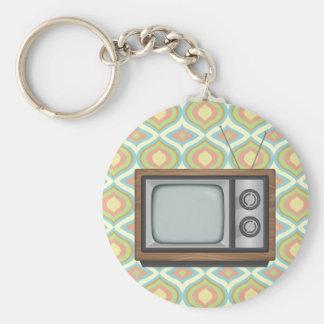 Retro TV Rund Nyckelring
