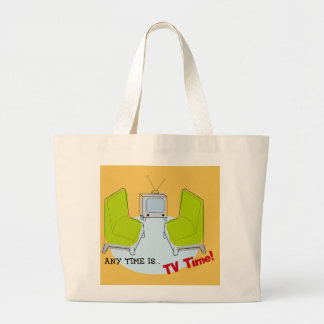 "Retro ""TV Time!"", Design Jumbo Tygkasse"