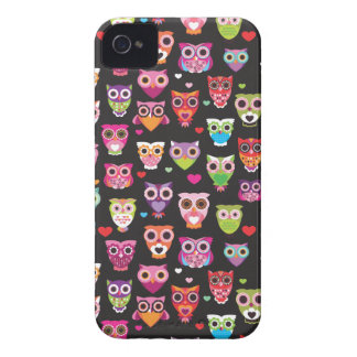Retro ugglamönsterillustration iPhone 4 Case-Mate cases