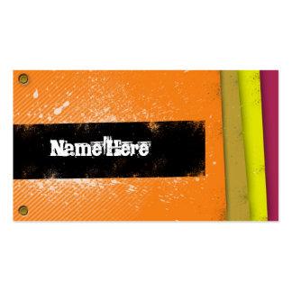 Retro ungdomnamnkort set av standard visitkort