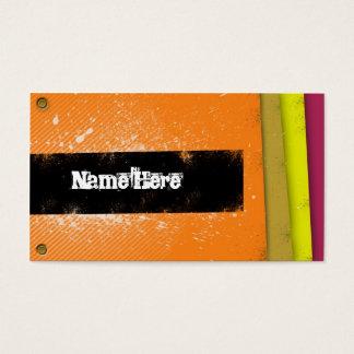 Retro ungdomnamnkort visitkort