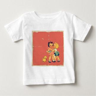 Retro unge för vintage för old tee shirt