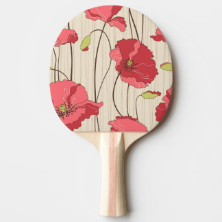 Retro vallmomönster pingisracket