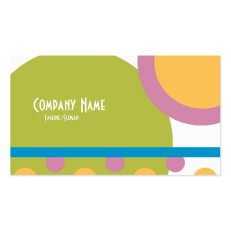 Retro vår set av standard visitkort