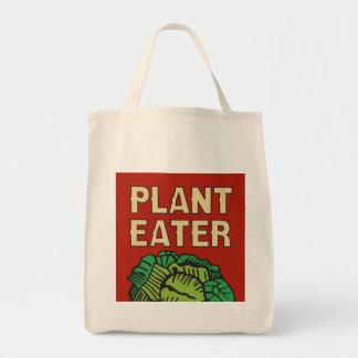 Retro vegetarisk vegan för växtEater Mat Tygkasse