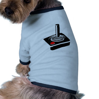 Retro videospelstyrspak hund tee shirt