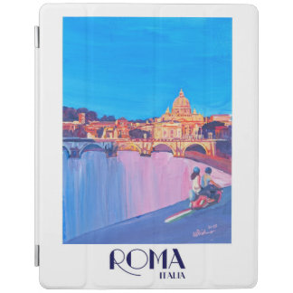 Retro vintage affisch för Rome italien iPad Skydd
