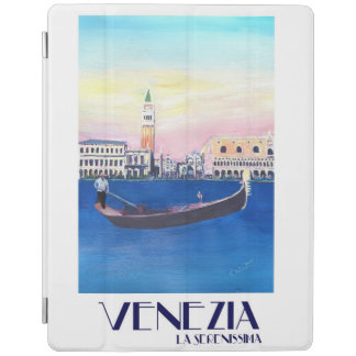 Retro vintage affisch för Venedig italien iPad Skydd