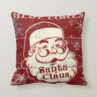 Retro vintage kommer här jultomten kudder kudde