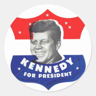 Retro vintagehötorgskonst60-tal Kennedy för Runt Klistermärke