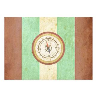 Retro vintagekompass på Bicolor bakgrundsdesign Visitkort Mallar